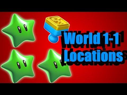 Green Star & Stamp Location - World 1-1 (Super Mario 3D World)