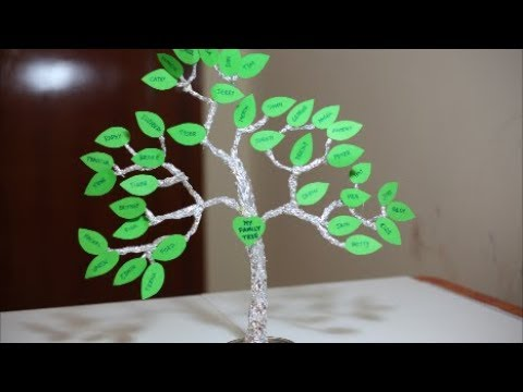 HOW TO MAKE A FAMILY TREE FOR KIDS | Aluminum foil craft ideas | Simple Frugal Life