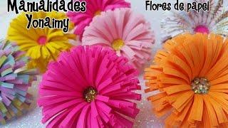 flores de papel paper flowers