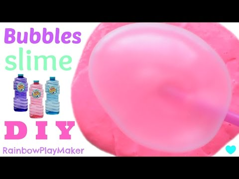 DIY JIGGLY BUBBLES SLIME!!! MIRACLE BUBBLES !! No Borax Detergent or Liquid Starch
