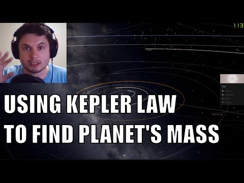 Kepler's 3rd law in Universe Sandbox 2 - finding mass of planets