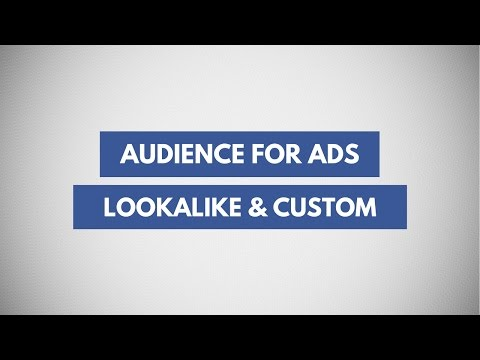 How To Create Custom, Lookalike and Saved Audiences For Facebook and Instagram Ads