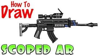 How to Draw the Burst Rifle | Fortnite | Video Jinni