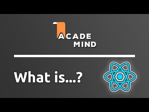 What is React - academind.com Snippet