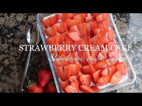 STRAWBERRY CREAM CAKE | IFTAR RECIPE