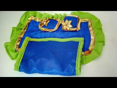 DIY Bedsheet Pillow Set For Laddu Gopal | CraftLas