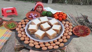 Yummy Bread Omelette Recipe Prepared In My Village World BEST Mouthwatering Egg Omelet Village Food