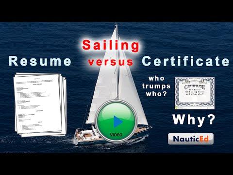 Sailing Resume vs A Sailing Certification