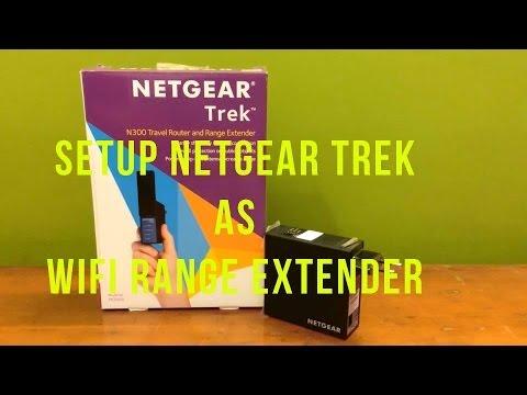 How to Setup Netgear Trek PR2000 as a Wifi Range Extender