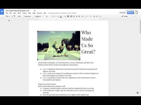 Publishing Your Google Doc