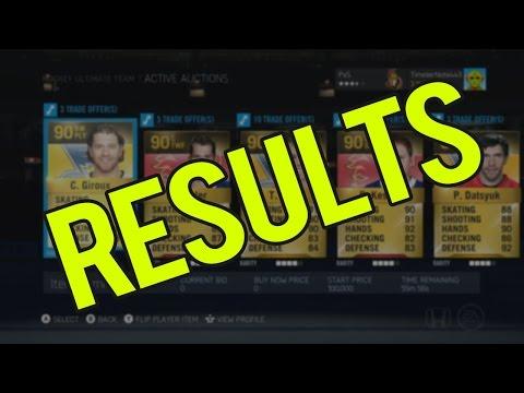NHL 15 HUT   Trading Block #1 RESULTS!