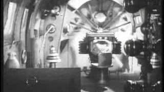 Flash Gordon parachutes from a rocketship
