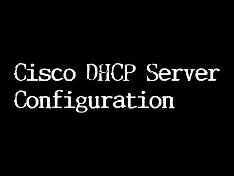 Cisco DHCP Server Configuration