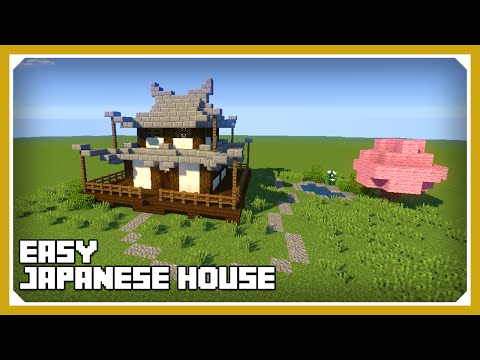Minecraft: How To Build A Japanese House Tutorial (Easy Survival Minecraft House )