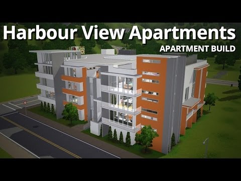 The Sims 3 Building - Harbour View Apartments (w/ Deligracy)