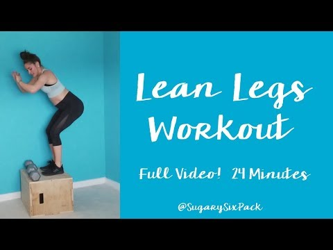 Lean Legs Workout Video | Leg Workout with Dumbbells
