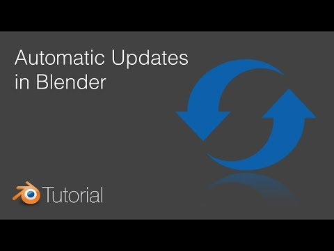 Blender Tutorial: How to Get Automatic Updates in Blender