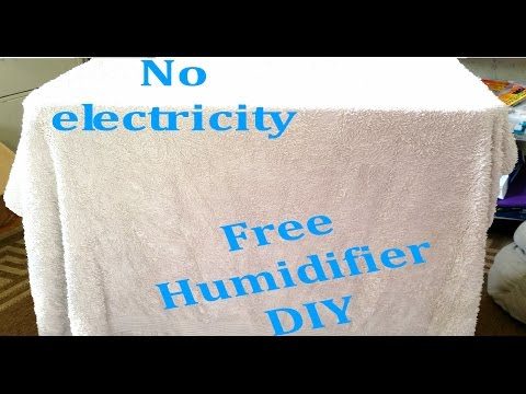 DIY Humidifier - Free and super easy!  No electricity  Off grid