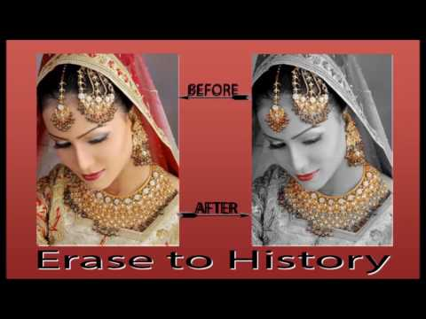 How to use Erase to History In Photoshop in Hindi