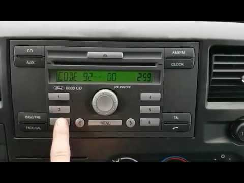 Ford radio 6000CD unlock code M series