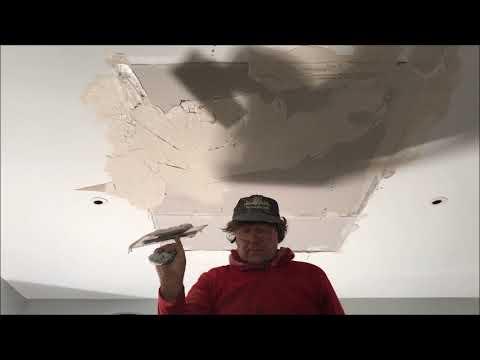 Large Hole in Drywall Ceiling Repair
