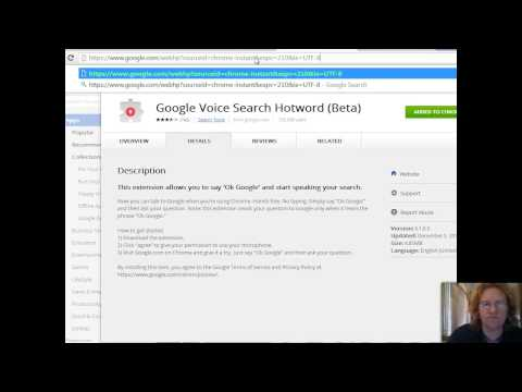 Install google voice search plugin on chrome