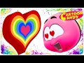 Learn With Colorful Hearts WonderBalls Valentines Day Special Cartoon Candy