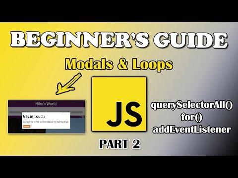 JavaScript Tutorial | Modals & Loops | Part 2
