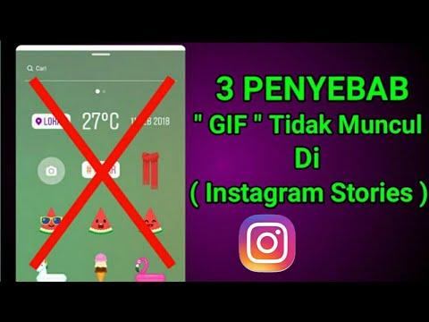 Penyebab GIF Tidak Muncul Di Instagram Stories