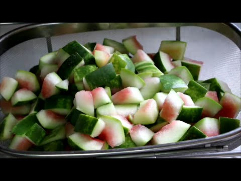 Canning Watermelon Rind Pickles for Food Storage