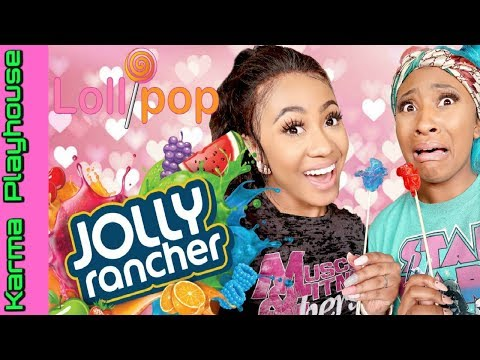 JOLLY RANCHER CANDY ROSES DIY How to make JOLLY RANCHER LOLLIPOPS: Karma Playhouse