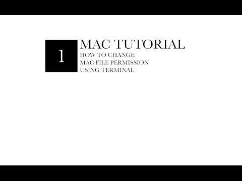 Terminal : Change File Permissions(Mac)