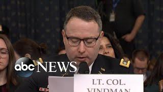 Key moments from Lt. Col. Vindman's testimony | ABC News