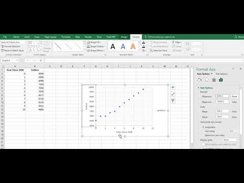 Creating a Scatter Plot in Excel 2016