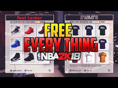 NBA 2K18 Free Shoes Clothing Jewelry Everything ⋆#NBA2K18⋆ 👟👖👕👔🔥😱