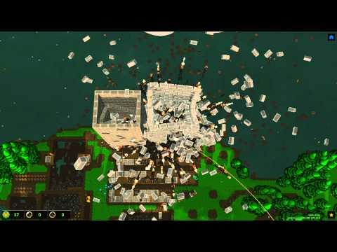 Castle Story Massive Tower Explosion! 24 Barrels