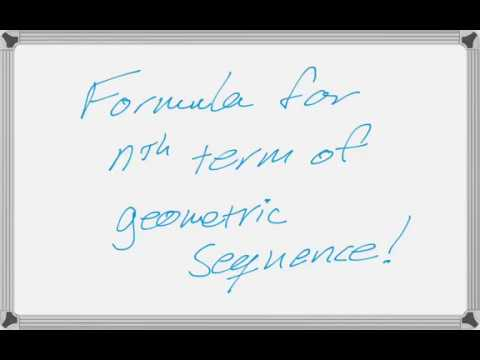 Formula for nth Term of Geometric Sequence