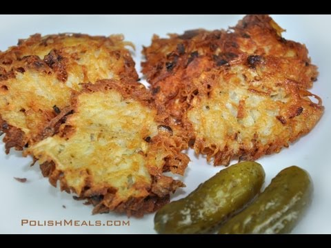 Polish Food - Traditional Potato Pancakes (thick grate) - Polish Cuisine