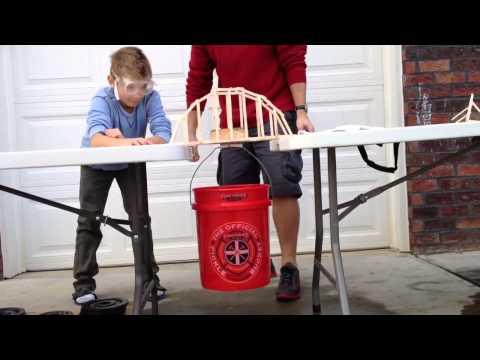 Popsicle Stick Arch Bridge Strength Capacity