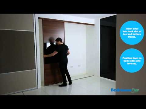 How to fit Sliding Wardrobe Doors - Install track & doors - Space Pro (formerly Stanley)