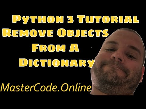 How To Remove An Object From A Dictionary in Python 3