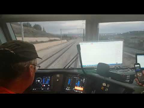 Bombardier Traxx on test in Israel - view from the cab
