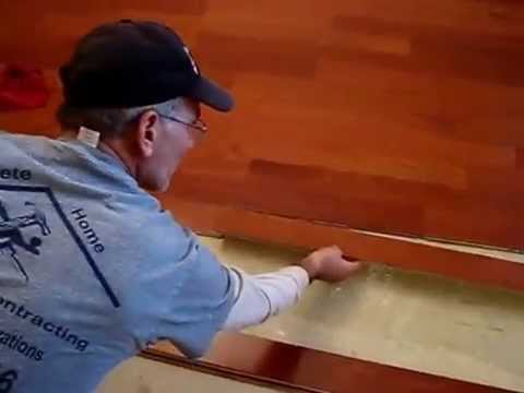 How to Install glue down Hardwood Floor & Engineered Wood Flooring over cement slab sub floor