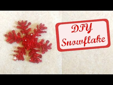Snowflake | Christmas Decoration | Glue Gun Snowflake | DIY 11