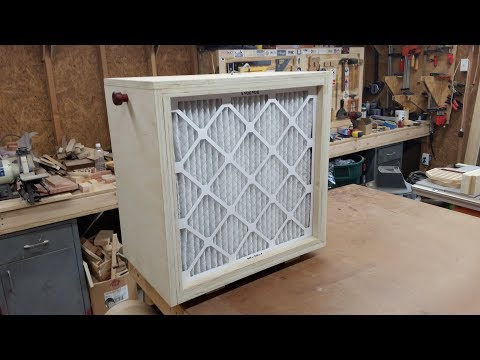 DIY Air Cleaner and Dust Filter