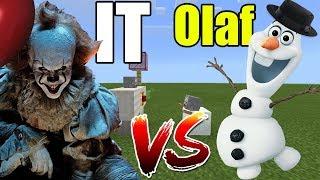 IT vs Olaf | Minecraft PE