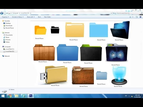 How to change coputer icon in urdu/hindi and other