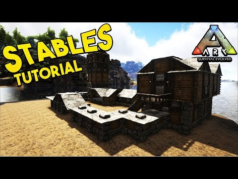 How To Build Medieval Stables Tutorial - Ark Survival Evolved [NO MODS]