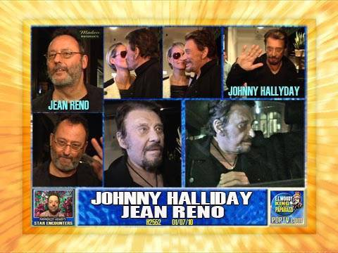 JOHNNY HALLYDAY & JEAN RENO DINE OUT IN LA