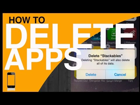 how to Delete uninstall an iPhone iPad iPod app